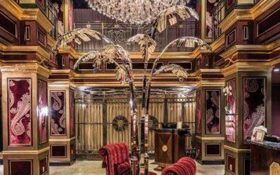 1920's inspired hotel lobby