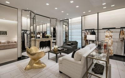 Chanel boutique interior with women's ready to wear