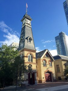 Yorkville Fire house featuring architecture from 1876