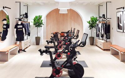 Interior shot of Peloton store