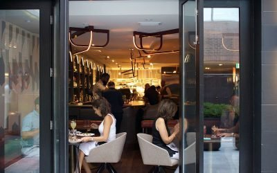 Alobar yorkville has lounge seating, patio, dining room, and bar