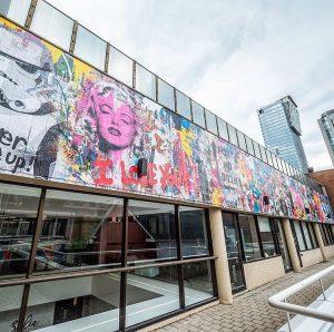 Mr. Brainwash mural dedicated to Toronto in Yorkville