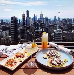 The One Eighty offers a panoramic view of Toronto