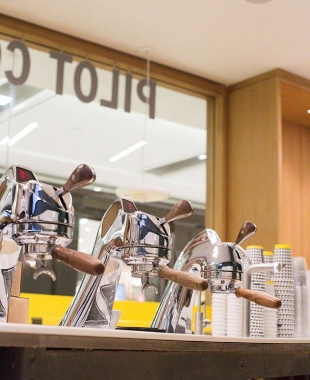 photo of professional coffee equipment at pilot coffee roasters