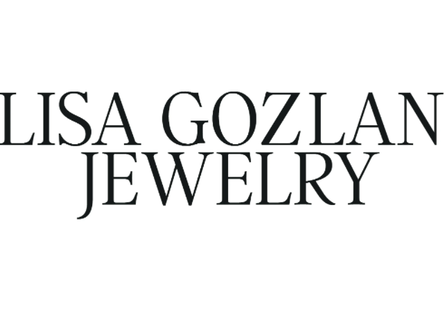 Lisa Gozlan jewelry spelled out as a brand logo